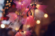 Folhas esqueletizadas...um efeito lindo com as luzes!!