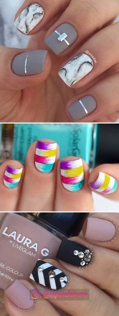48 pretty nail designs that you want to copy right away -.- 48 hübsche Nageldesigns, die Sie sofort kopieren möchten – Nails Art – … 48 pretty nail designs you want to copy right away – Nails Art – Pretty # like - Pretty Nail Designs, Nail Art Designs, Pedicure Designs, Marble Nail Designs, Pretty Nail Art, Love Nails, How To Do Nails, Grow Nails, Nagellack Design