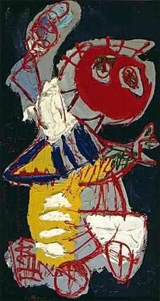 Cobra Museum Karel Appel - Girl on bicycle