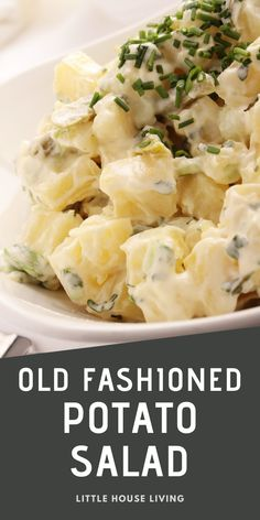 Make this delicious old fashioned potato salad for your next barbecue! Quick, easy, and homemade.