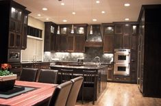 Idea for my new kitchen... without the ugly hood over the stove (brings back the nightmares of chem lab!)