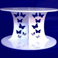 Butterflies White Round Acrylic Pillars Wedding & Party Cake Separators / Stands 30cm - 28cm (12inch - 11inch). Height 10cm (4inch), http://www.amazon.ca/dp/B00C1F3Q9E/ref=cm_sw_r_pi_awd_UQHSsb1Q7YCMZ