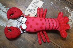 Lobster named Eugene by buttuglee on Etsy
