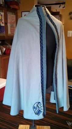 1/2 circle wool cloak with raven embroidery from Everyday Archaea