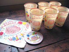 Vintage birthday party supplies
