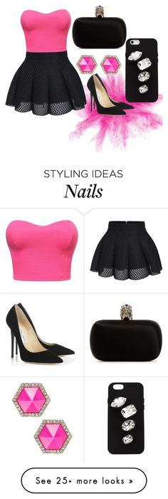 """"" by preetkd on Polyvore featuring Alexander McQueen, STELLA McCARTNEY, Jimmy Choo and ABS by Allen Schwartz"