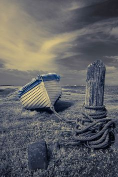 Porlock Boat, boat, cloudy sky, image, beauty, photo