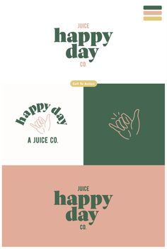 At Perspektiiv Design Co. your first round of primary and secondary logos consists of 3 very different sets for you to choose from, or mix and match elements until you are satisfied. This is an example of one of the three, first round of logos for Happy Day Juice Co. coming to Portland, Oregon in Summer of 2019! See more of our work at Perspektiiv.com