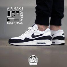 """#nike #air #airmax #airmaxone #airmax1 #nikeair #sneakerbaas #baasbovenbaas  Nike Air Max 1 Essential """"Black & White"""" - Now available - Priced at 134.99 Euro  For more info about your order please send an e-mail to webshop #sneakerbaas.com!"""