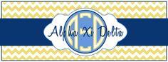 Alpha Xi Delta monogram Facebook cover photo!