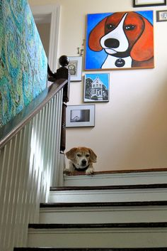 Beagle and Beagle Painting
