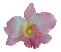Pink Orchid Silk flower Hair Clip 5.00 Inch.