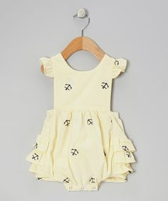Anchor Ruffle Bubble Sunsuit -
