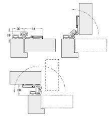 Neuform Hinge For Door Thickness 15 16 Mm H Fele Uk Ltd