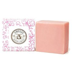 Pink Orchid Shea Butter Soap, Premium Soap, Floral Scented Soap, Cold... ($6.50) ❤ liked on Polyvore featuring beauty products, bath & body products and body cleansers