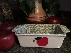 Orchard Fresh Bakeware, Loaf Dish by JustClickThreeTimes on Etsy