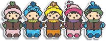 Adorable Christmas Carolers Bracelet Beading Pattern by Megan's Beaded Designs at Bead-Patterns.com
