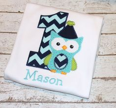Boy's Owl Birthday Shirt Personalize with by thesimplyadorable, $24.00