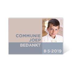 Communie bedankkaartje grafisch