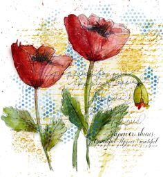Art du Jour by Martha Lever: It's a Poppy Run