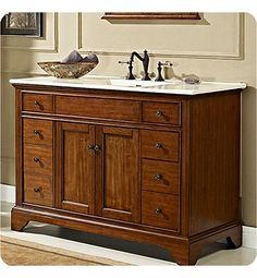 """Fairmont Designs Framingham 48"""" Modern Bathroom Vanity in Vintage Maple"""
