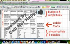 A free, easy, healthy, kid-friendly monthly meal plan from Call Her Happy!