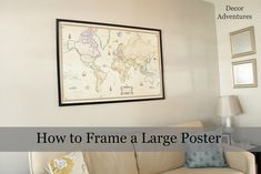 How to Frame a Poster by Decor Adventures