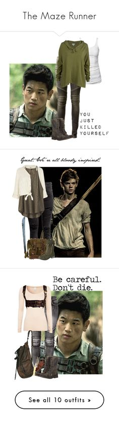 """""""The Maze Runner"""" by aliciastylinson ❤ liked on Polyvore featuring Balmain, James Perse, RVCA, AllSaints, Paul Brodie, River Island, prAna, Belstaff, VILA and Zizzi"""