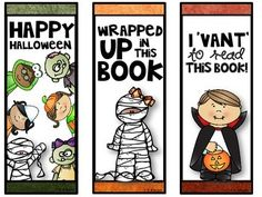 fun halloween bookmarks for your class3 designs in 2 sizesthank you - Halloween Book Marks