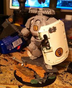 Imperial Fist's Contemptor (counts as Ironclad in regular games).