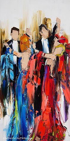 Kimberly Kiel, 'Thanks To You', 18'' x 36''   Galerie d'art - Au P'tit Bonheur - Art Gallery