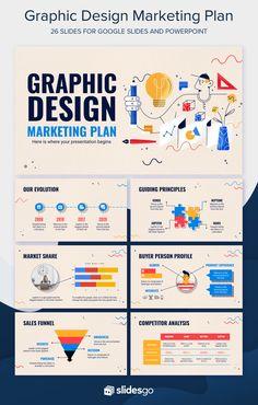 Slides Powerpoint, Powerpoint Slide Designs, Powerpoint Design Templates, Ppt Template, Kids Graphic Design, Graphic Design Company, Design Design, Design Presentation, Marketing Presentation