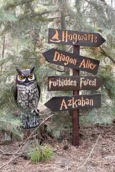 Harry Potter inspired choose your own sign wooden lawn ornament set | From HouserHouseCreations #ad #harrypotter #backyard #woodsigns