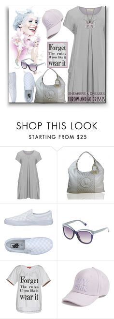 """Throw-and-go Dress & White Snekers"" by ragnh-mjos ❤ liked on Polyvore featuring Isolde Roth, Vans, Furla, Manila Grace, Ivy Park and Steel City"