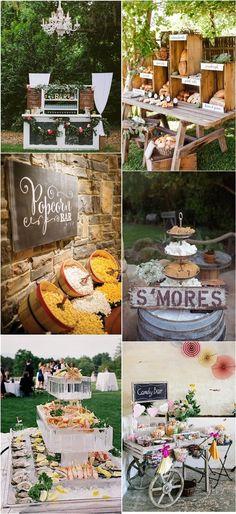 Wedding Dressert & Wedding Food Bar Ideas