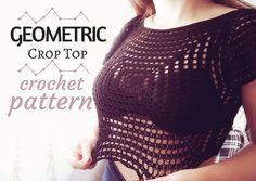 Geometric Crop Top - Free Crochet Pattern · The Magic Loop
