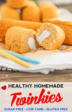 Healthy Homemade Twinkies recipe (sugar free, low carb, low fat, high protein, gluten free) - Desserts with Benefits