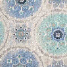 Spanish Blue/Gray Floral Woven