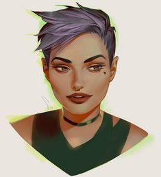 How I wish to see myself someday.....green clothes.... Green eyes (i already have them).....dirty blond hair (which I have)mixed with purple.....that haircut and lipstick..... And it wouldn't hurt to have a choker....this is future me
