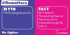 #Flu vaccine does NOT give you the flu. #vaccine