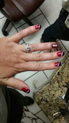 New England Patriots nails by Vee