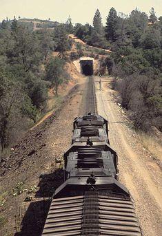 Southern Pacific Railroad train symbol BAX at Applegate, CA