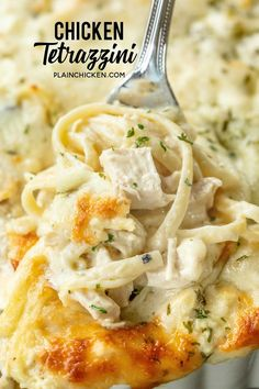 Chicken Tetrazzini - super delicious make ahead casserole! Makes a great freezer. - Chicken Tetrazzini – super delicious make ahead casserole! Makes a great freezer meal! Chicken,l - Food Dishes, Main Dishes, Dishes For Dinner, Chicken Linguine, Chicken Spaghetti Recipes, Chicken Spaghetti Pioneer Woman, Baked Chicken Spaghetti, Pioneer Woman Chicken, Cream Of Chicken Soup