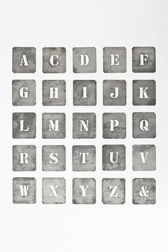Cool alphabet for displays Vintage Typography, Typography Letters, Typography Design, 26 Letters, Letters And Numbers, Typography Inspiration, Type Design, Love Words, Word Art