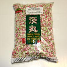 Perle di tapioca colorate, dalla Tailandia - From Thailand, colored tapioca pearl