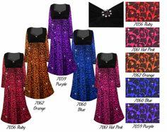 f1bef119e33 Customizable Pink Leopard Glittery Slinky Print Empire Waist Plus Size  Dress With Rhinestone Detail Lg XL 0x 1x 2x 3x 4x 5x 6x 7x 8x