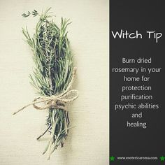Witchy tip! Wiccan Witch, Wicca Witchcraft, Magick Spells, White Witch Spells, Hoodoo Spells, Green Witchcraft, Witchcraft For Beginners, Hedge Witch, How To Dry Rosemary