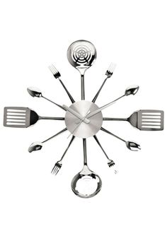 PRESENT TIME 23'' Steel Utensils Wall Clock - for kitchen?