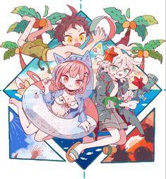 Nanami Chiaki, Super Danganronpa, Cute Art Styles, Cute Anime Chibi, Sad Art, Danganronpa Characters, Fandoms, Hinata, Manga
