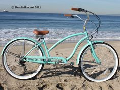"Firmstrong Chief 7 Speed, Mint Green - Women's 26"" Beach Cruiser Bike"